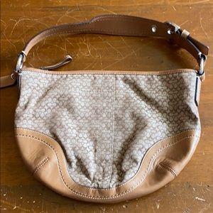 Brown and Tan Classic Coach purse
